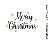 christmas card with small... | Shutterstock .eps vector #759478996