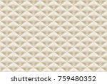seamless pattern brown quilted... | Shutterstock .eps vector #759480352