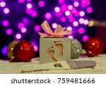 christmas pregnancy announcement | Shutterstock . vector #759481666