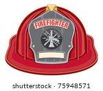 firefighter helmet black is an... | Shutterstock .eps vector #75948571