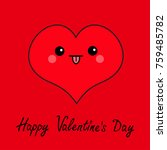 happy valentines day sign... | Shutterstock .eps vector #759485782