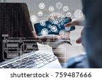 artificial intelligence ai ... | Shutterstock . vector #759487666