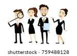 people in suits vector isolated | Shutterstock .eps vector #759488128
