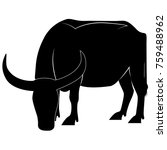 picture of a buffalo silhouette ...   Shutterstock .eps vector #759488962