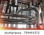 equipment  cables and piping as ... | Shutterstock . vector #759491572