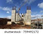 industrial building  foundation ... | Shutterstock . vector #759492172