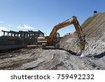 industrial building  foundation ... | Shutterstock . vector #759492232