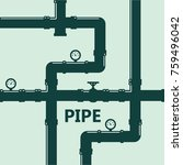 pipe fittings vector icons set. ... | Shutterstock .eps vector #759496042