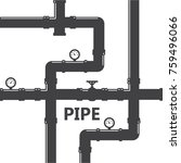 pipe fittings vector icons set. ... | Shutterstock .eps vector #759496066