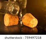 corks  bottle cluse up | Shutterstock . vector #759497218
