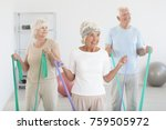 group of elders working out... | Shutterstock . vector #759505972