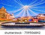 sibiu christmas market winter...   Shutterstock . vector #759506842
