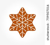 christmas gingerbread cookie... | Shutterstock .eps vector #759507016