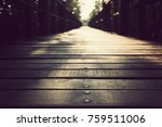 the old wooden bridge bridge... | Shutterstock . vector #759511006