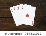play casino card games on the... | Shutterstock . vector #759511012