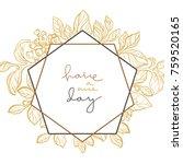 vector wedding template with... | Shutterstock .eps vector #759520165