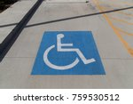 handicapped symbol painted on a ... | Shutterstock . vector #759530512