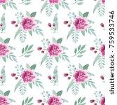 watercolor seamless pattern... | Shutterstock . vector #759533746