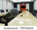 microphone modern table... | Shutterstock . vector #759536626