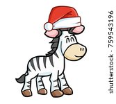 cute and funny zebra horse... | Shutterstock .eps vector #759543196