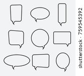 speech bubble linear icons ... | Shutterstock .eps vector #759545392