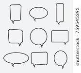 speech bubble linear icons ... | Shutterstock .eps vector #759545392