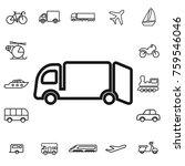 garbage truck. linear transport ... | Shutterstock .eps vector #759546046