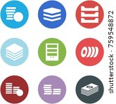 origami corner style icon set   ... | Shutterstock .eps vector #759548872