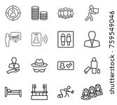 thin line icon set   target... | Shutterstock .eps vector #759549046