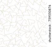 beige hearts seamless pattern.... | Shutterstock .eps vector #759550876