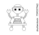 cartoon robot icon over white... | Shutterstock .eps vector #759557962