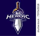 sword mascot logo | Shutterstock .eps vector #759565018