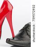 ladies shoe and men's shoe | Shutterstock . vector #759572932