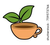 cup with tea leafs | Shutterstock .eps vector #759573766
