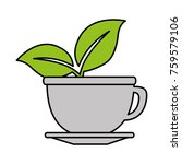 cup with tea leafs | Shutterstock .eps vector #759579106