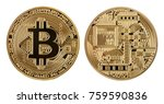 face and back of the crypto... | Shutterstock . vector #759590836