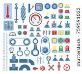 set of measuring equipment  ... | Shutterstock .eps vector #759591022