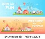 amusement park   set of modern...   Shutterstock .eps vector #759593275