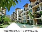 serviced condominium rental in... | Shutterstock . vector #759596926