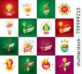 logo of fresh juice   Shutterstock .eps vector #759599215