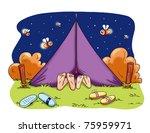romantic camping   Shutterstock . vector #75959971