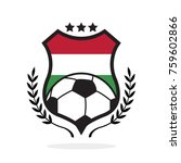 hungary national flag football... | Shutterstock .eps vector #759602866