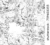 grunge black and white pattern. ... | Shutterstock . vector #759603355
