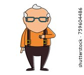 cute grandfather avatar... | Shutterstock .eps vector #759604486