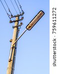 old  antique streetlamp  ... | Shutterstock . vector #759611272