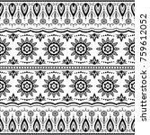 vintage graphic vector indian... | Shutterstock .eps vector #759612052