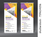 roll up banner design template  ... | Shutterstock .eps vector #759614356