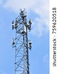 telecom towers  wireless... | Shutterstock . vector #759620518
