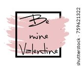 happy valentines day   textured ... | Shutterstock .eps vector #759621322