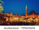 traditional christmas market on ...   Shutterstock . vector #759623656